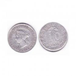 10 cents Ceylon Argent 1897  ( 001 )