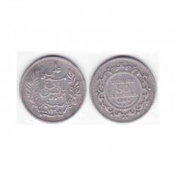 50 cents Tunisie Argent 1891  ( 001 )
