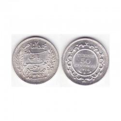 50 cents Tunisie Argent 1916 ( 001 )