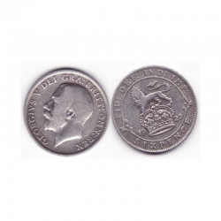 6 pence Angleterre  Argent 1922 ( 001 )