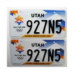Paire de Plaque d Immatriculation USA - Utah ( 047 )