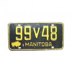 Plaque d Immatriculation Canada Manitoba ( 189 )