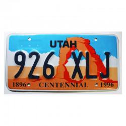 Plaque d Immatriculation USA - Utah ( 166 )