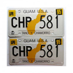 paire de Plaques d Immatriculation USA - Guam Isl ( 059 )