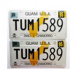 paire de Plaques d Immatriculation USA - Guam Isl ( 058 )