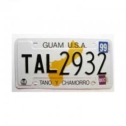 Plaque d Immatriculation USA - Guam Isl ( 283 )