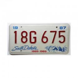 Plaque d Immatriculation USA - South Dakota ( 366 )