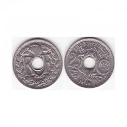1 piece de 25 cents 3 iem republique 1915 soulignée
