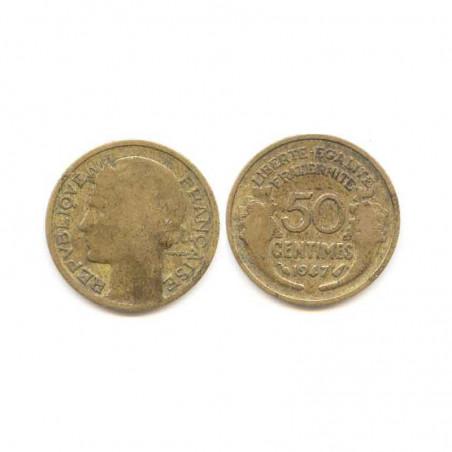 1 piece de 50 Cents Morlon 1947 cupro alu ( 002 )