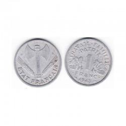 1 franc Bazor 1943 B Alu ( 002 )