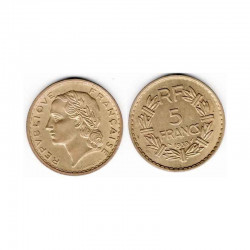 5 Francs Lavrillier 1939 Cupro alu
