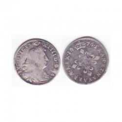 4 Sols dits des traitants Louis XIV 1676 A Argent ( 002 )