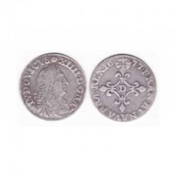 4 Sols dits des traitants Louis XIV 1677 D Argent ( 002 )
