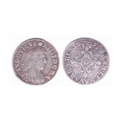 4 Sols dits des traitants Louis XIV 1675 D Argent