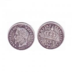20 cents Napoleon III 1867 BB argent ( 003 )