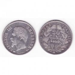 20 cents Napoleon III 1860 A argent ( 001 )