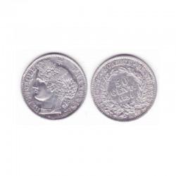 1 piece de 50 centimes Ceres Argent 1851 A ( 001 )