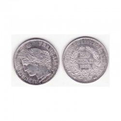 1 piece de 20 centimes Ceres Argent 1850 A ( 001 )