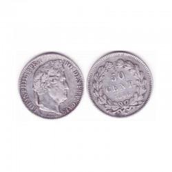 50 Cents Louis Philippe 1846 A Argent ( 001 )