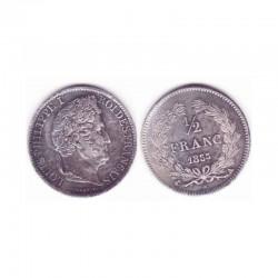 1/2 franc Louis Philippe 1835 A Argent ( 001 )