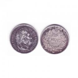 25 cents  Louis Philippe 1846 A Argent ( 001 )
