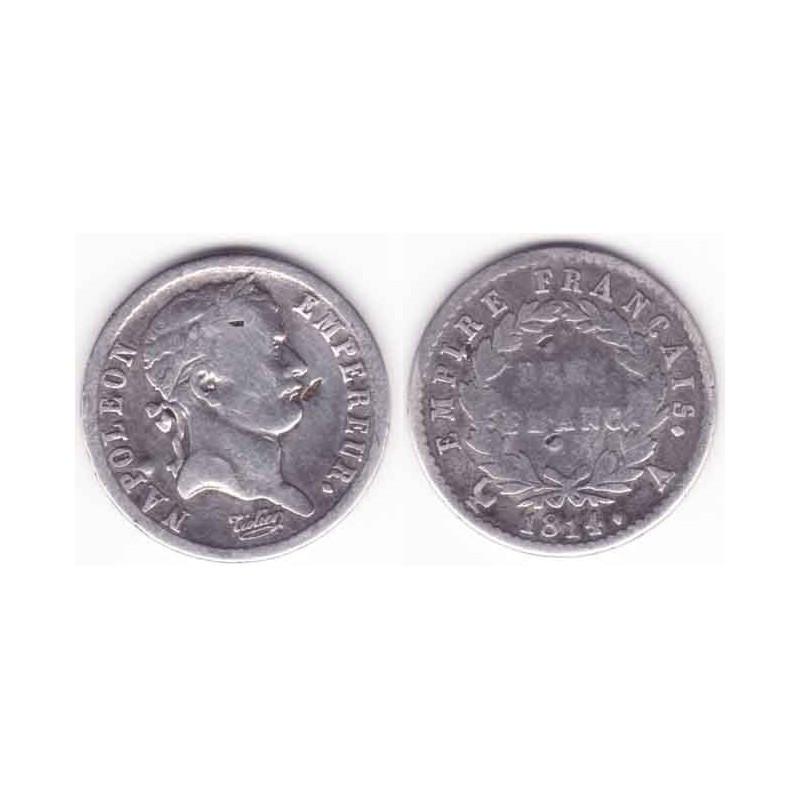 demi franc Argent 1814 A Napoleon 1 ( 001 )