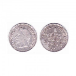 20 cents Napoleon III 1867 A argent ( 008 )