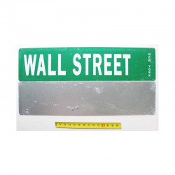 Plaque de rue USA - Wall Street
