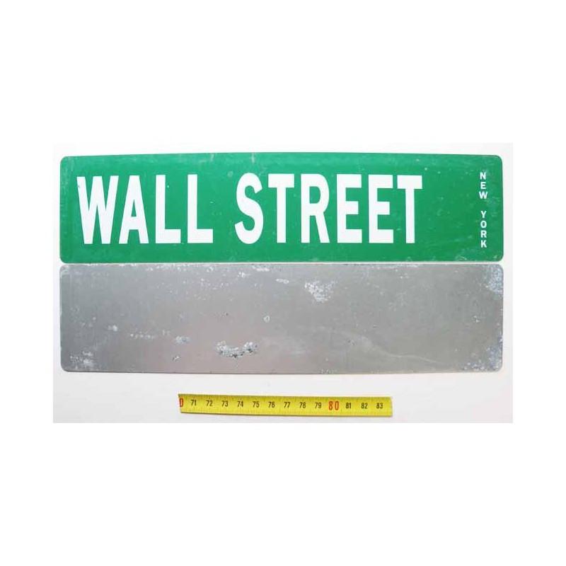 Plaque de rue USA - Wall Street