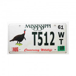 Plaque d Immatriculation USA - Mississippi ( 489 )
