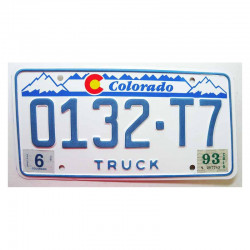 Plaque d Immatriculation USA - Colorado ( 646 )