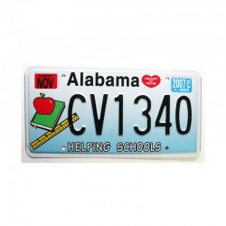 Plaque d Immatriculation USA - Alabama ( 629 )