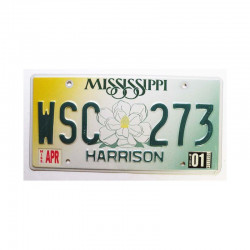 Plaque d Immatriculation USA - Mississippi ( 801 )