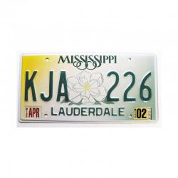 Plaque d Immatriculation USA - Mississippi ( 809 )