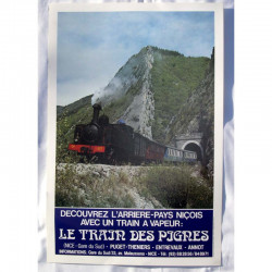 Affiche originale du train des Pignes