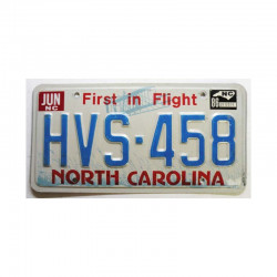 Plaque d Immatriculation USA - North Carolina ( 896 )