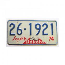 Plaque d Immatriculation USA - South Dakota ( 904 )