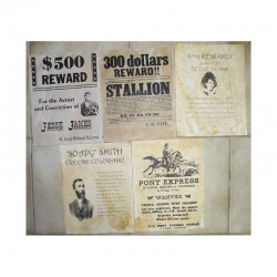 Lot 5 affiches USA Western , Cowboys ( 016 )