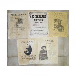 Lot 5 affiches USA Western , Cowboys ( 020 )