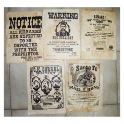 Lot 5 affiches USA Western , Cowboys ( 021 )