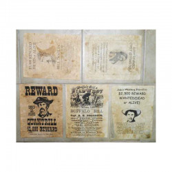 Lot 5 affiches USA Western , Cowboys ( 023 )
