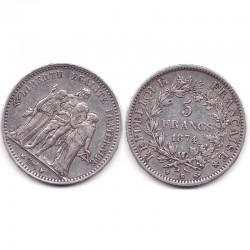 5 franc Hercule 1874 K argent ( 001 )