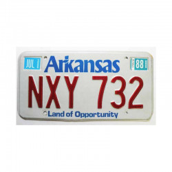 Plaque d Immatriculation USA - Arkansas ( 1004 )