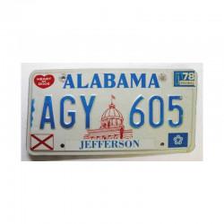 Plaque d Immatriculation USA - Alabama ( 566 )