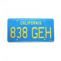 Plaque d Immatriculation USA - California ( 756 )