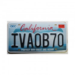 Plaque d Immatriculation USA - California  ( Rep - 081)