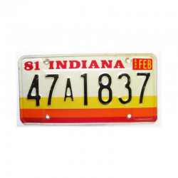 Plaque d Immatriculation USA - Indiana ( 1041 )