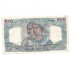 1000 F Minerve et Hercule 05/05/1948 TTB ( 163 )