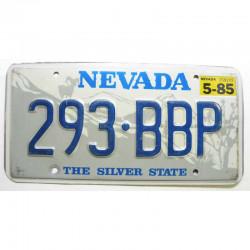 Plaque d Immatriculation USA - Nevada avec vignette ( 064 )