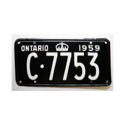 Plaque d Immatriculation Canada Ontario ( 143 )